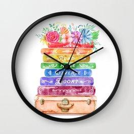 Diverse Books Wall Clock