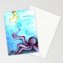 She & The Octupus Stationery Cards