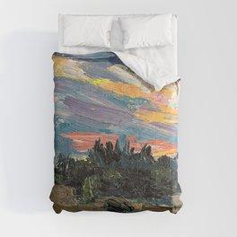 Tom Thomson - Sunset, Canoe Lake - Digital Remastered Edition Comforters