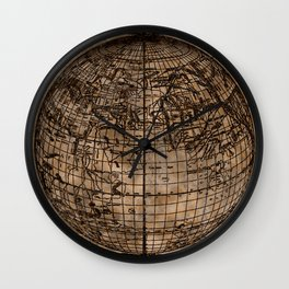 Vintage Old World Map Design Wall Clock