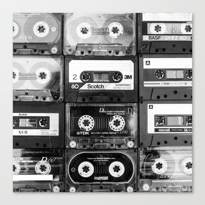Something Nostalgic - black and white #decor #society6 #buyart Leinwanddruck