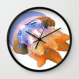 Jellyfish Face Water Salt Jelly Slime Cap Horn Wall Clock