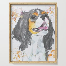 Cavalier King Charles Spaniel Art Serving Tray