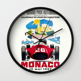 Classic Grand Prix Poster Wall Clock