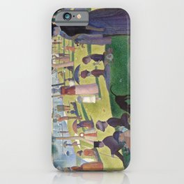 Georges Seurat - A Sunday Afternoon on the Island of La Grande Jatte iPhone Case