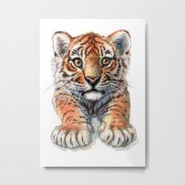 Playful Tiger Cub 907 Metal Print