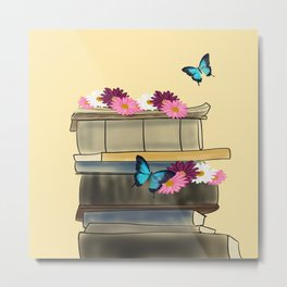 Books and Butterflies - An Introverts Dream Metal Print