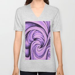 Swirl (NEON PINK) Unisex V-Neck