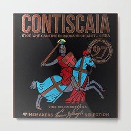 Vintage Toscana Rosso Wine Bottle Label Print Metal Print