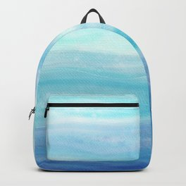 Sea Waves, Abstract Watercolor Painting Backpack