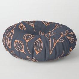 Scandi Leaves Floor Pillow