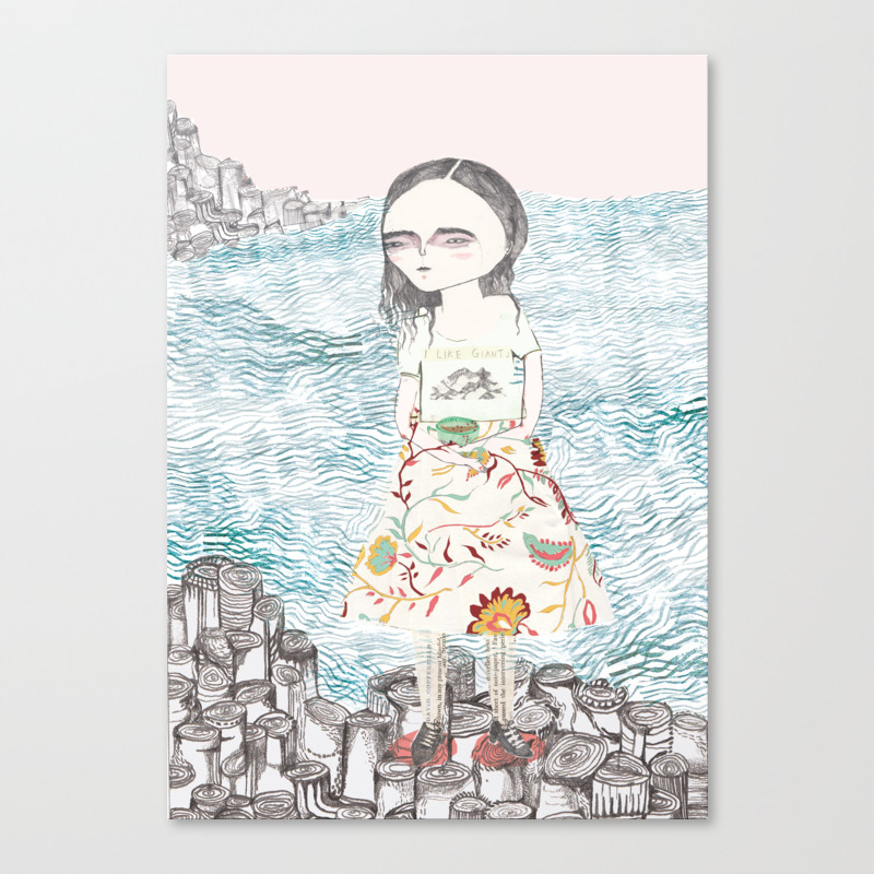 Me With A Cup Of Tea At The Giant's Causeway Canvas Print by Sophiehadfield CNV972551