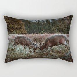 Yosemite Bucks Locking Horns Rectangular Pillow