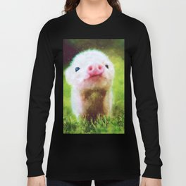 CUTE LITTLE BABY PIG PIGLET Long Sleeve T-shirt