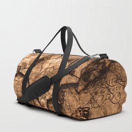 Antique World Map & Compass Rose Duffle Bag