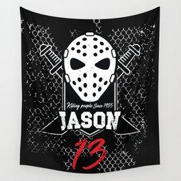 Friday 13. Jason portrait Wall Tapestry