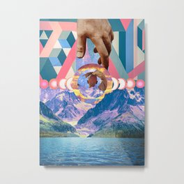 Reine Du Nord Collage Metal Print