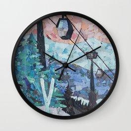 Ski Hill Wall Clock