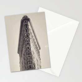 Flatiron Building, original New York photography, skyscrapers, wall decoration, home decor, nyc b&w Stationery Cards