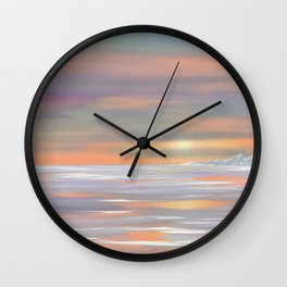 Picture sunset Wall Clock
