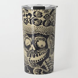 Calavera Catrina | Skeleton Woman | Anthracite and Soybean | Travel Mug