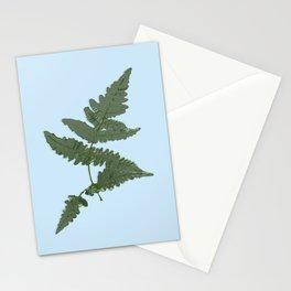 Fern Illustration Blue Stationery Cards