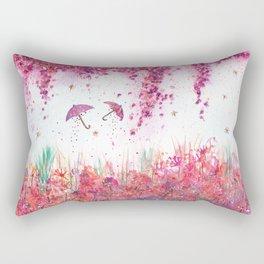 Umbrellas watercolor Painting Rectangular Pillow