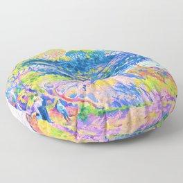 Henri Edmond Cross -Kap Layet - Digital Remastered Edition Floor Pillow