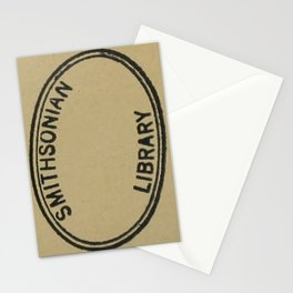 Smithsonian library stamp Stationery Cards