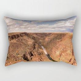 Rio Grande Gorge - Landscape on Autumn Day Near Taos, New Mexico Rectangular Pillow