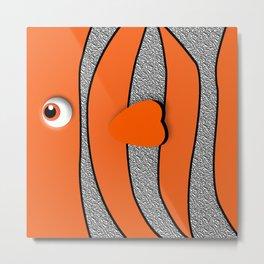 Orange ornamental fish cartoons Metal Print