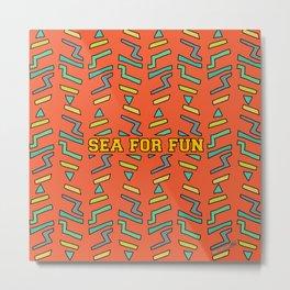 Sea for fun (red) Metal Print