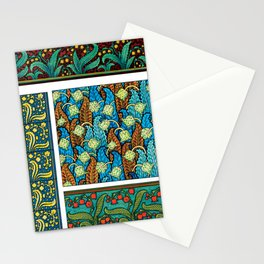 Lily of the Valley Art Nouveau Flower Tiles Stationery Cards