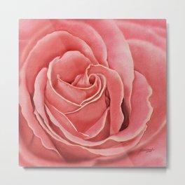 Rose is my heart Metal Print