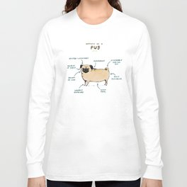 Anatomy of a Pug Langarmshirt