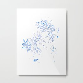 OB Blue & White Metal Print