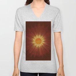 Celestial Red Sun Tapestry Astronomical Atlas portrait painting by Joseph Spoor Unisex V-Neck