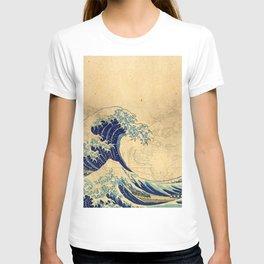 Hokusai parchment T-shirt
