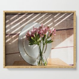Bouquet and Plate Serving Tray