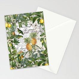 Tropical Fruit Illustration Vintage Style Stationery Cards