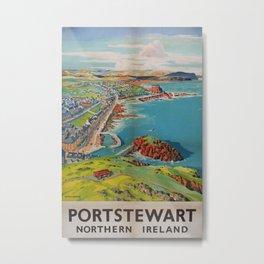Portstewart Vintage Travel Poster Metal Print