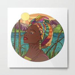 Black Beauty Queen Metal Print