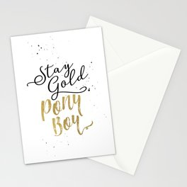 Stay Gold Ponyboy Stationery Cards