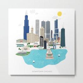 Chicago Illustration Metal Print