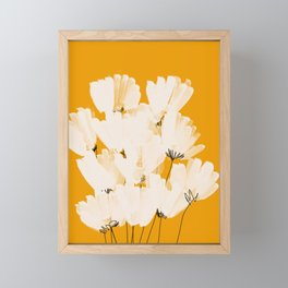 Flowers In Tangerine Framed Mini Art Print