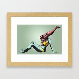 Squid Maiden Framed Art Print