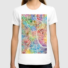 Cologne Germany City Map T-shirt