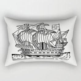 Sea ship from Real Sailor-Songs Collected And Edited By J Ashton Two Hundred Illustrations Rectangular Pillow