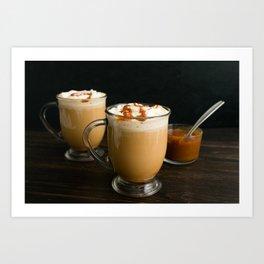 Brulee Caramel Coffee Art Print