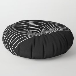 Abstraction 014 - Minimal Geometric Triangle Floor Pillow